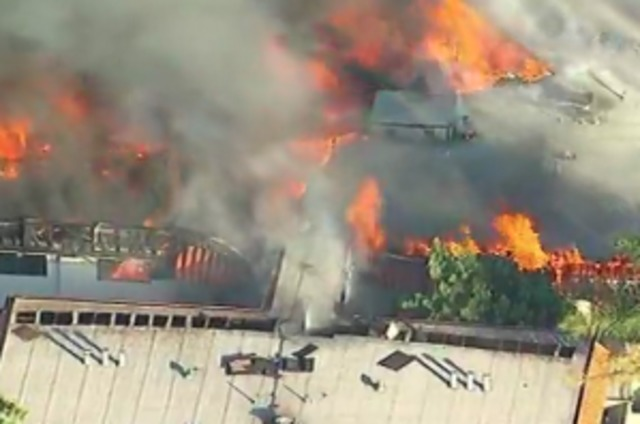 Huge Fire Engulfs Apartment Building In Los Angeles Suburb
