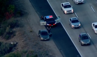 Chase starts over illegal use of HOV lane