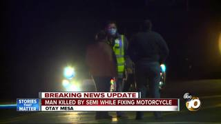 Motorcyclist hit, killed by semi in Otay Mesa