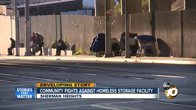 Community fights against homeless storage facility