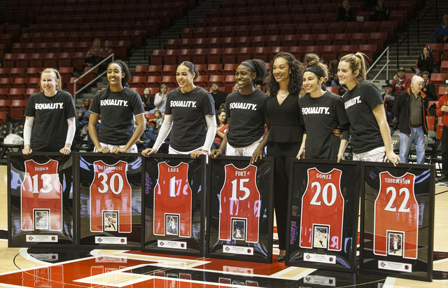 SDSU women's basketball toasts Senior Day...