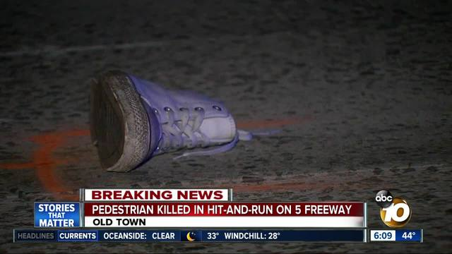 Pedestrian killed in hit-and-run on I-5