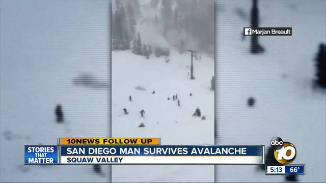 San Diego native and wife caught in Squaw Valley avalanche