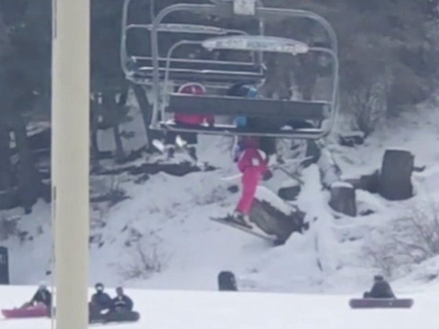 5-year-old girl dangles from chairlift at ski resort