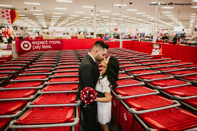 Man Cave Gifts Target : Florida newlyweds cement marriage target addiction in wedding