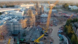 Drone captures Disneyland's 'Star Wars' addition