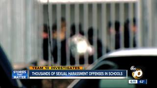 Sexual harassment offenses in CA schools