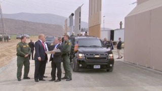 PHOTOS: Trump tours border wall in Otay Mesa