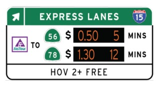 Freeway sign swap could get you home faster