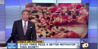 Pizza a better motivator than money?