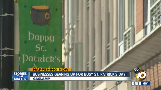 Businesses gearing up - for St- Patrick-s Day