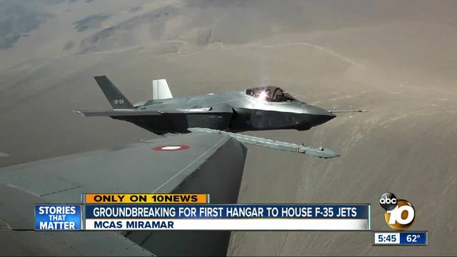 Groundbreaking for first hangar to house F-35 jets