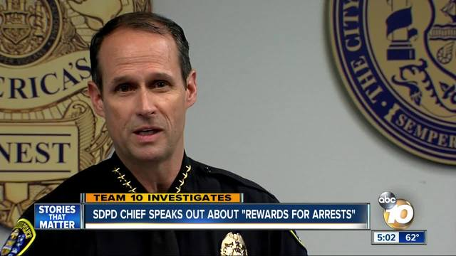 SDPD Police Chief holds press conference on -rewards for arrests- controversy