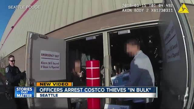 Cops bust shoplifters bursting out of Costco with stolen goods