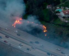 Spot fires erupt near homes in La Mesa