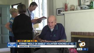 Former Meals on Wheels volunteer honored at 102