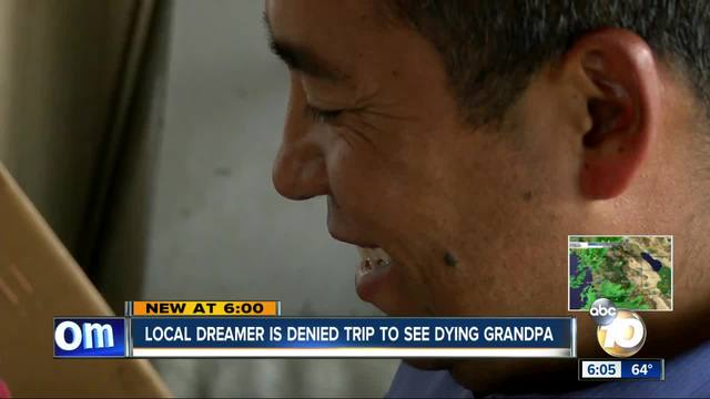 Local dreamer denied trip to see dying grandpa