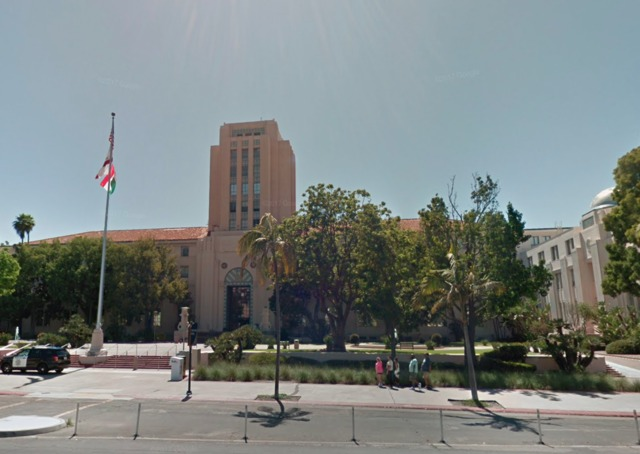 County building threatened by ex-employee