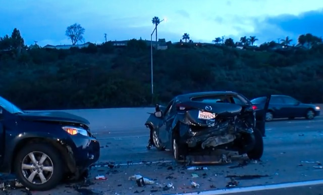 Threecar Crash Causes Hours Long Lane Closures On Interstate - San diego car show 2018