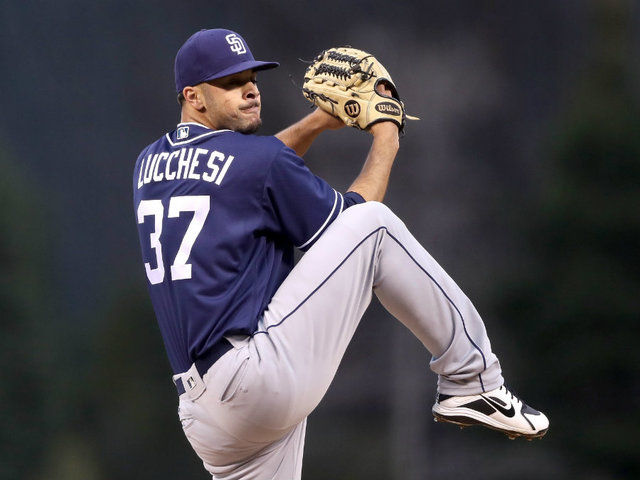 Nolan Arenado charges Padres' Luis Perdomo after message pitch