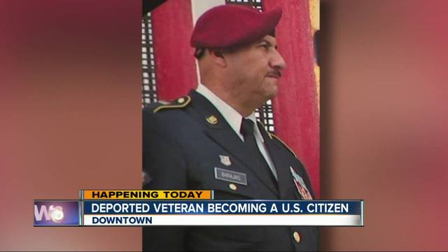 Deported US Army veteran becoming a US citizen