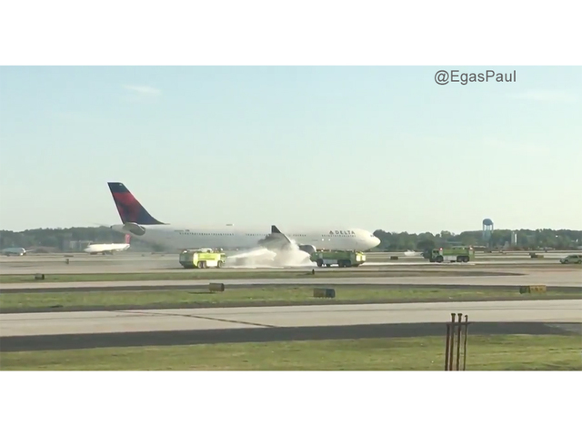 Delta plane with smoking engine lands safely in Atlanta airport