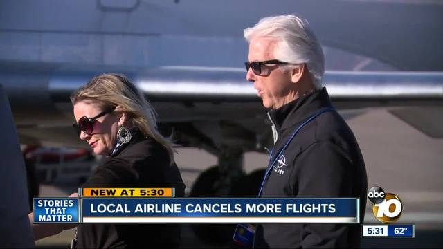 Cal Jet cancels flights from Carlsbad to Vegas- again