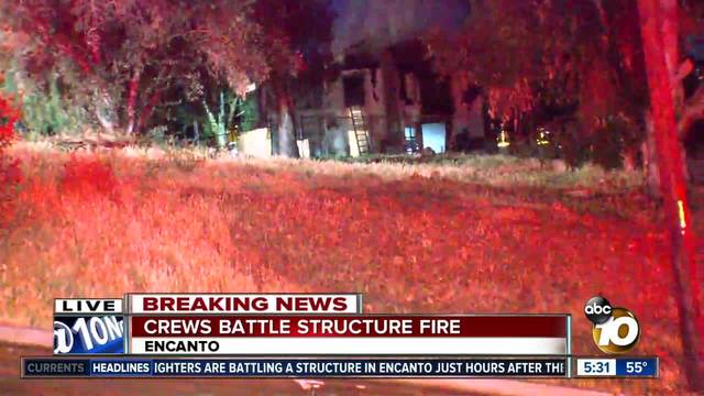 Crews battle two San Diego house fires overnight