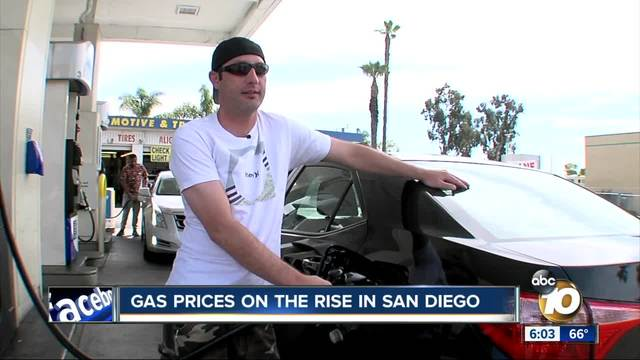 Gas prices reaching a three-year high