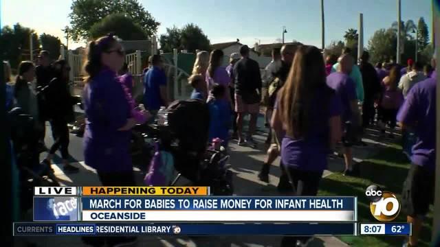 10News walks in Oceanside March for Babies 2018