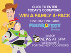 Enter Today's Codeword To Win A Family 4-Pack!