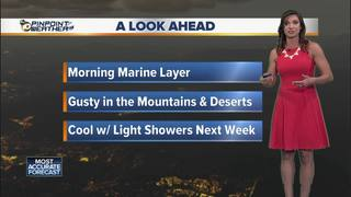 Megan's Forecast: Cool at the coast, warm inland
