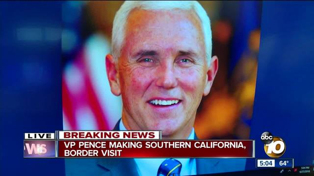 Vice President Mike Pence tours border wall, addresses migrant caravan issue