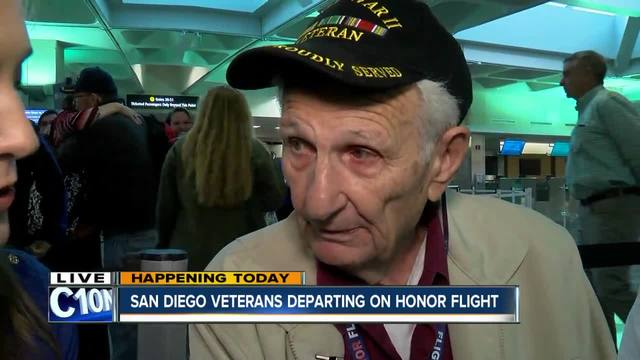 Veterans take honor flight to Washington, DC
