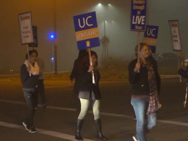 UC workers strike continues into second day