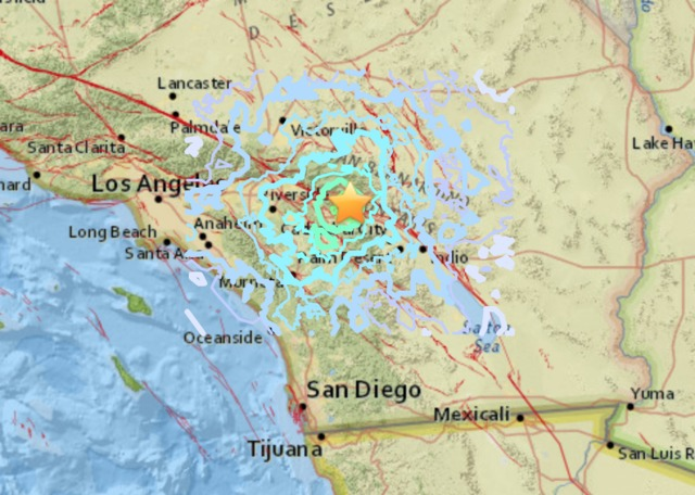 Pair of quakes strike in Southern California
