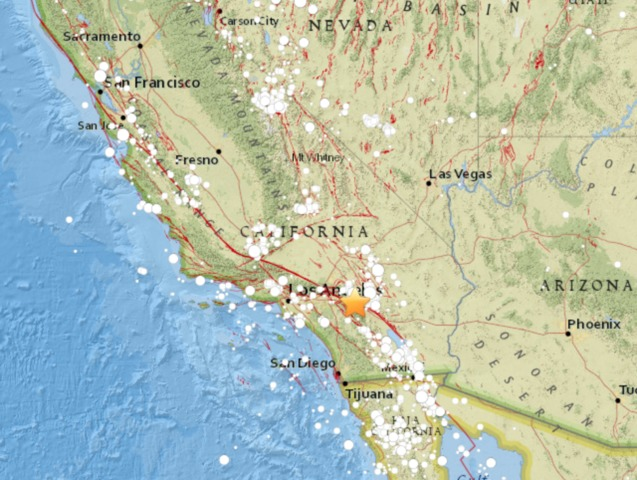 Magnitude-4.5 quake  strikes near Los Angeles
