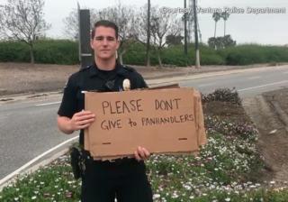 Police video ignites panhandling debate