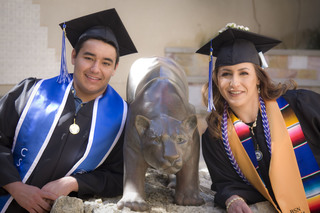 Mother and son graduate college together