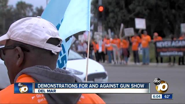 Protesters hope to end gun shows in Del Mar