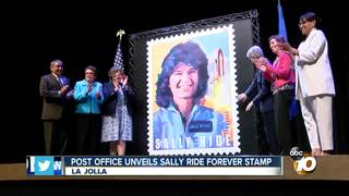 Post Office unveils Sally Ride stamp