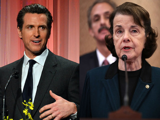 Poll: Newsom, Feinstein lead as primary looms