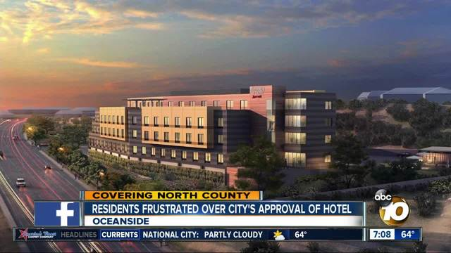 Oceanside frustrated over City-s approval of hotel