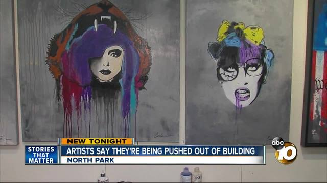 Artists say they-re being pushed out of building