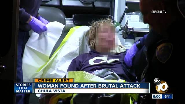 Woman found bleeding behind strip mall in Chula Vista