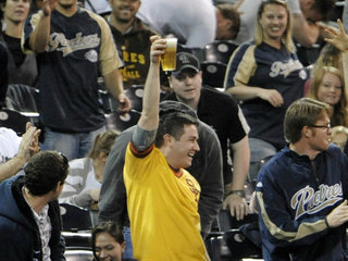 Padres fans won't need to leave seats for beer