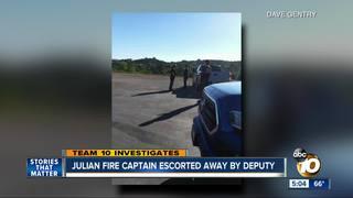 Deputy called to Julian Fire Dept. dispute