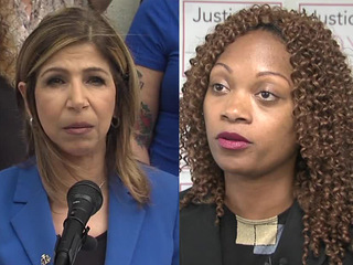 Summer Stephan, Genevieve Jones Wright face off