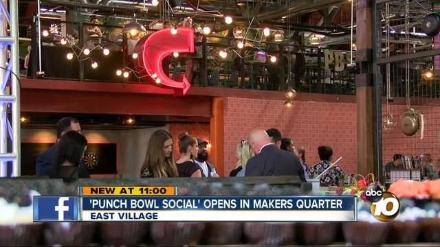 Entertainment complex 'Punch Bowl Social' opens in San Diego ...