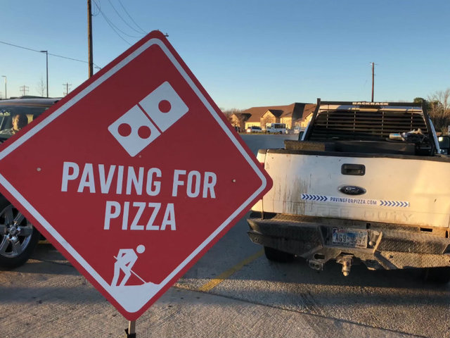 Image result for Domino's Paving for Pizza